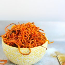 Fried Shoestring Carrots