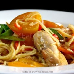Apricot Noodle Chicken recipe