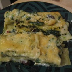 Cannelloni With Spinach, Raisins and Pine Nuts