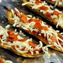 Baked Pizza Potato Skins