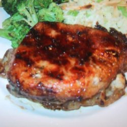 Sweet N Spicy Stuffed Pork Chops recipe