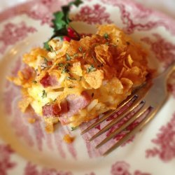 Cheesy Hash Browns With Ham