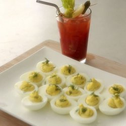 Bloody Mary Deviled Eggs