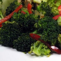 Broccoli and Red Bell Pepper Saute
