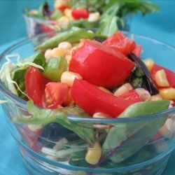 Sweetcorn and Red Pepper Salad