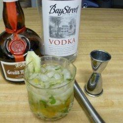 Cucumber, Kumquat, and Mint Vodka Cocktail
