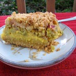 Rhubarb Custard Dessert