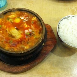 Hot and Spicy Tofu Soup