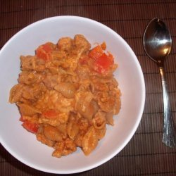 Skillet Macaroni and Tvp Beef (Vegan)