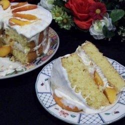 Peaches 'n Cream Cake