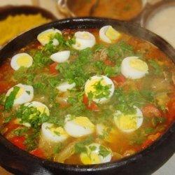 Bahian Brasilian Fish Stew, Decorated With Boiled Eggs (Moqueca