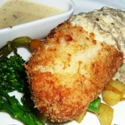 Chicken Kiev with Mushroom Sauce