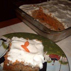 Carrot Spice Poke Cake