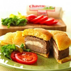 Chavrie Stuffed Turkey Burger! recipe