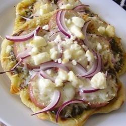 Potato Pesto Feta Pizza