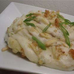 Mashed Potatoes Almondine