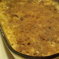 Macaroni and Cheese with Sausage and Pears