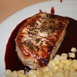 Pork Chops with Raspberry Sauce recipe