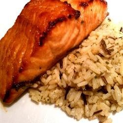 Spicy-Sweet Glazed Salmon
