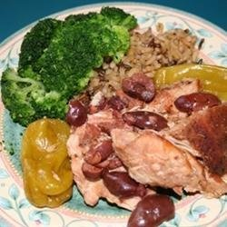 Mediterranean Chicken with Pepperoncini and Kalamatas recipe