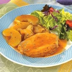 Golden Mushroom Pork & Apples