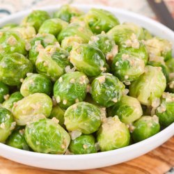 Brussels Sprouts With Onion and Mustard Seeds