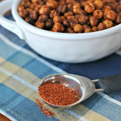 Spicy Crunchy Chickpea Snack