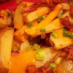 Potato Wedges With Cheese and Bacon