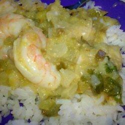 Salsa Verde Caribbean Shrimp