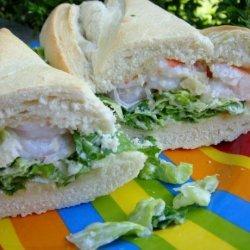 Shrimp Caesar Sandwich