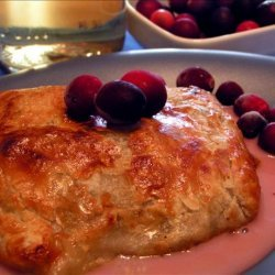 Chicken Breast With Cranberry and Brie in Puff Pastry