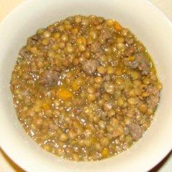 Italian Sausage Lentil Soup