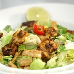 Shrimp with Tomatoes, Lime and Cilantro