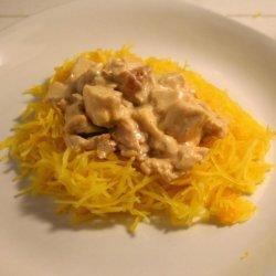 Chicken Spaghetti Squash Alfredo