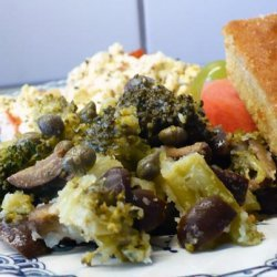 Broccoli With Lemon, Kalamata Olives and Capers