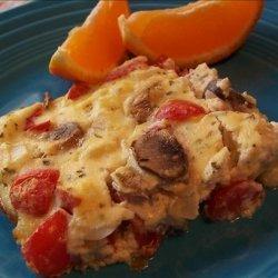 Baked Mushroom Omelette
