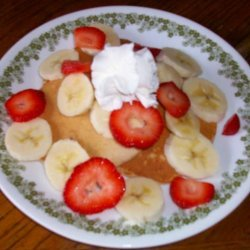 Bisquick Strawberry Banana Pancakes