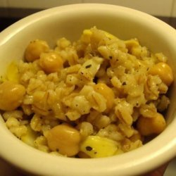 Barley Pilaf With Chickpeas and Artichoke Hearts