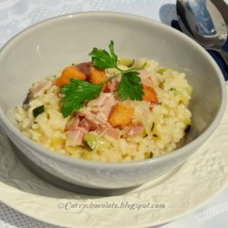 Ham and Zucchini Risotto