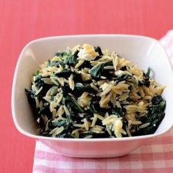 Spinach-Feta Orzo