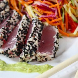Sesame Crusted Tuna With Wasabi Sauce