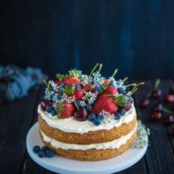Berry Cherry Sponge Cake