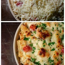 Chicken and Pasta Bake With Basil