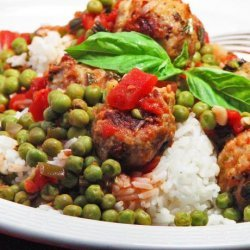 Mouthwatering Meatball & Peas!