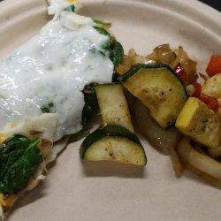 Egg White Mushroom and Cheese Omelet