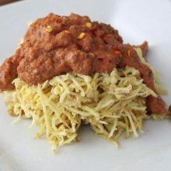 Sweet Potato  pasta  With Tangy Marinara: a Raw Food R