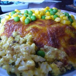 Curried Salmon and Rice Slice