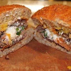 Popper Stuffed Burgers