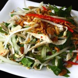 Salad Chicken in a Simple Way