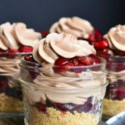 Chocolate Cherry Cheesecake Pie
